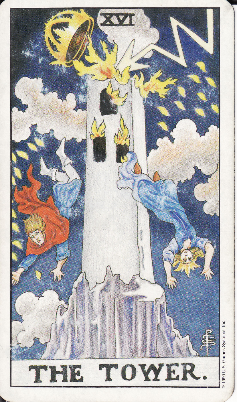 Each of the modern chapters in the CHoHW trilogy are named for a tarot card. The next to last chapter of PART 3: DELUGE is named for The Tower, associated with disaster and sudden changes of fortune.